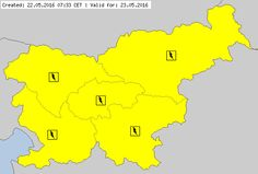 Meteoalarm - severe weather warnings for Europe - Mainpage - Slovenia