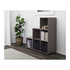 EKET Storage combination with feet - dark gray - IKEA