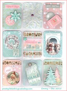 Advent Calendar pocket letter by Emmy, Dec 2015 Atc Cards, Card Tags, Journal Cards, Pocket Pal, Pocket Cards, Christmas Scrapbook, Christmas Cards, Pink Christmas, Notes For Friends