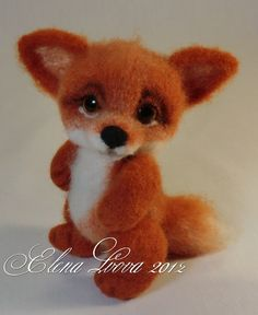 Russian tutorial for how to needlefelt an adorable fox