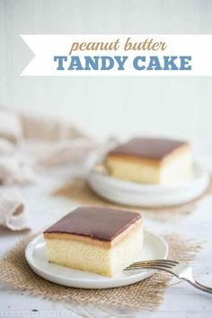 Peanut Butter Tandy Cake (aka Kandy Kake): this took me straight back to my childhood! Even better than the Tastykake original, with soft, butter-y sheet cake, topped with peanut butter and milk chocolate ganache. food desserts cake