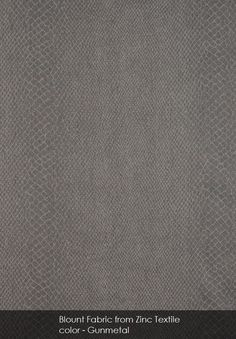 Blount fabric from Zinc Textile in Gunmetal
