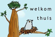 """Gratis e-card: """"Welkom+thuis"""""""