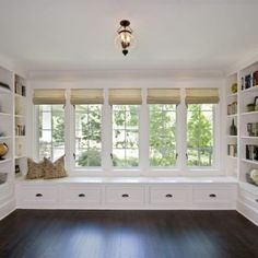 Would love a window seat somewhere. Clawson Architects Projects - traditional - family room - new york - by Clawson Architects, LLC Window Benches, Window Seats, Room Window, Traditional Family Rooms, Home Libraries, My Dream Home, Living Spaces, Living Room, New Homes