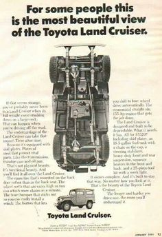 Underside retro advertisement