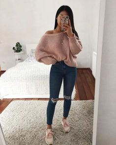 teenager outfits for school ; teenager outfits for school cute Cute Comfy Outfits, Cute Fall Outfits, Winter Fashion Outfits, Simple Outfits, Stylish Outfits, Teen Fashion Winter, Spring Outfits, Fashion Dresses, Casual Outfits For Winter