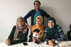 Hamilton welcomes Meriem Benoualiallah, Sara Mouyeddine, Houda El Mouatassim Billah and Asma Laffinti from Morocco.  Who says English teachers aren't great fun? http://blog.ialc.org/?p=1974   #IALCblog #IALC #IALCaccredited #LearnEnglish #Scotland #teachertraining
