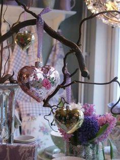GreenGate Heart ornaments