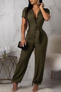 Details: Material: Polyester Style: Casual Pattern Type: Solid Fit Type: Straight Elastic: Small Elastic SIZE(IN) US Bust Waist Hip Pants Length S 2-4 35.4 27.6 37.0 60.2 M 6-8 37.0 29.1 38.6 60.6 L 10 38.6 30.7 40.2 61.0 XL 12 40.2 32.3 41.7 61.4 Tips: Due to the many variations in monitors, the color in the image
