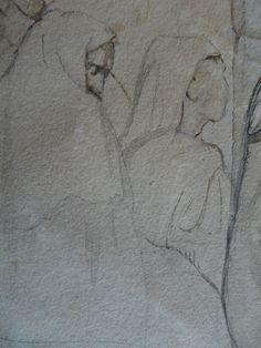 CHASSERIAU Théodore,1846 - Arabe barbu et autres Figures - drawing - Détail 25