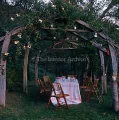 Beautiful arbor with Outdoor dining space