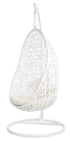 Hanging chair rattan egg white half teardrop wicker - Indoor hanging egg chair for bedroom ...