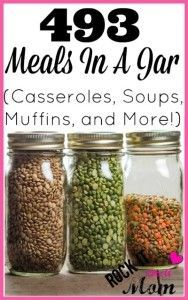 Stock your pantry until it bursts! In this listing you will find everything from soups and casseroles, to breads and muffins, and everything in between!  Use them as pre-prepared meals/snacks, or wrap them up with ribbon and gift them!
