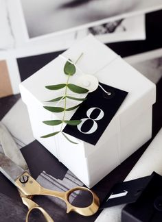 Here is a modern black and white christmas calendar. All you need is 24 boxes and  number cards. I found my boxes and cards from ...