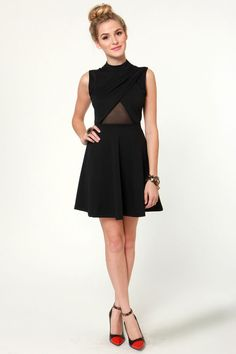 Noir-vel to Behold Cutout Black Dress at LuLus.com!