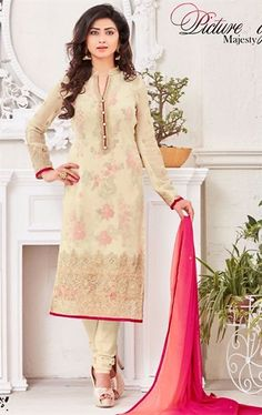 Magnificent Beige Ethnic Salwar Suit