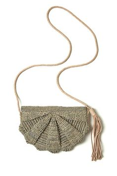 Zoe Dove Crocheted Raffia Bag
