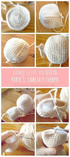 How to crochet a beautiful bear (free pattern) and how to make it hairy (PART Brushing technique /// Como tejer oso amigurumi (Patrón gratis) y hacerle pelo. Crochet Cowl Free Pattern, Easy Crochet Blanket, Crochet Poncho Patterns, Tutorial Crochet, Crochet Teddy, Crochet Dolls, Knit Crochet, Crochet Winter, Crochet Baby Jacket