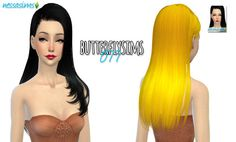 Butterflysims 077 hair retexture at Nessa Sims via Sims 4 Updates Sims Hair, Sims 4 Update, Long Hair Styles, Disney Princess, Disney Characters, Cas, Color, Hairstyles, Haircut Designs