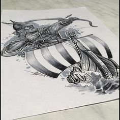 #draw #drawing #sketch #tattooidea #design #pagan #tattoo #язычество #ладья#воин#рисунок #назаказ #набросок #эскиз#татуировка #тату #сергиевпосад #2016