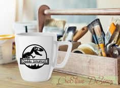 Daddy Saurus, Dad's Day Mug, Father's Day Gift, Dad Anniversary Gift, Dad Joke Mug, Father's Day Cup, Funny Dad Present, Dad has Everything by Cre8tiveDeZinez on Etsy