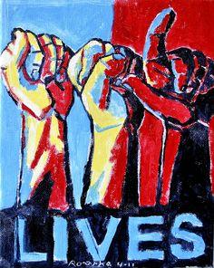 ASL Lives oil on canvas Sign Language Art, American Sign Language, Libra, Asl Interpreter, Deaf Art, Science Education, Health Education, Physical Education, Alphabet