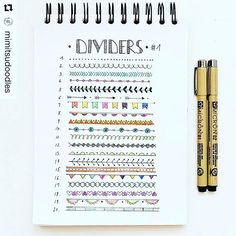 showmeyourplannerAdd some colorful dividers to your bullet journal or #planner. Courtesy of @mimitsudoodles