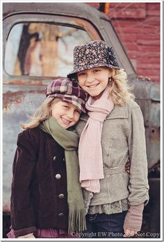 Children have an amazing way of pulling off articles of clothing that you wouldn't otherwise think twice about.  I adore the outfits on these two and it's a great example of how pattern doesn't have to be avoided!