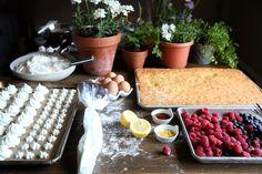 Lemon Chiffon Berry Flag Cake with Mini Meringues — The judy lab