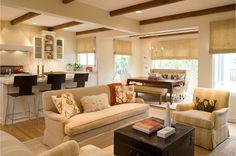 beams...living room, dining room...Love!