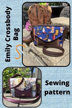 Sewing pattern for the Emily Crossbody Bag. Emily is big enough to carry all your most important items. With multiple pockets, it provides plenty of storage and eliminates clutter at the bottom of your handbag. There is an external front pocket with built-in gussets, functional zippers, and a flap closed with a magnetic snap. The perfect quick access pocket for your mobile phone! Additionally, you will find a cargo style and zipper pocket inside to keep smaller essentials easily accessible while Bag Patterns To Sew, Sewing Patterns, Red Button, Satchel, Crossbody Bags, Lining Fabric, Messenger Bag, Bags Sewing, Shoulder Bag