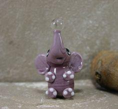 Lampwork Baby Elephant Bead by Brinkbeads on Etsy