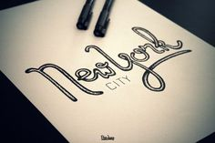 Quotes Typo  Lovely Hand Drawn Lettering Type {love the texture} // New York City by Ben Jung