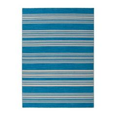 Hatteras Stripe Flat Woven Rug | Ballard Designs Living Room or family room