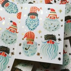 Discover recipes, home ideas, style inspiration and other ideas to try. Christmas Mood, Retro Christmas, Christmas Design, Holiday Fun, Christmas Crafts, Christmas Decorations, Christmas Poster, Santa Christmas, Vintage Holiday