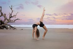 Victoria Simmons Photography: Dancer on Driftwood Beach   Southeast Georgia Senior Photographer   Senior Dance Photos