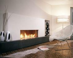 Brede gashaard in modern interieur. Sculpturale kunst