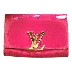 Pink Patent leather Clutch bag Louise