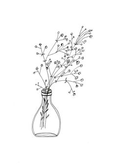Black and White Flower Drawing Simple. Black and White Flower Drawing Simple. Black and White Drawing A Flower Simple Flower Drawing, Floral Drawing, Simple Flowers, White Flowers, Flowers Vase, Simple Flower Painting, Flower Pens, Flower Art, Art Floral