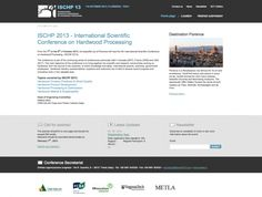 www.ischp2013.org International Scientific Conference on Hardwood Processing 2013