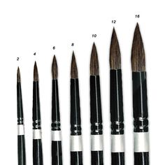 Silver Brush Black Watercolor Brushes, natural, and hold water. Best Watercolor Brushes, Watercolor Projects, Watercolor Tips, Floral Watercolor, Watercolor Paintings, Watercolors, Painting Tools, Painting Lessons, Painting Art