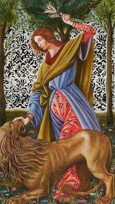 Strength - Golden Botticelli Tarot