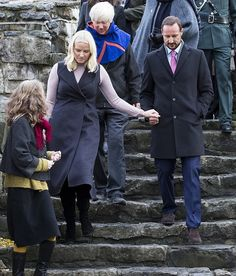Nov. 01, 2016, Crown Prince Haakon and Crown Princess Mette Marit visited the Gamle Oslo neighbourhood in Oslo, Norway.
