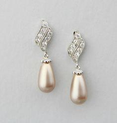 Wedding+earrings+pear+earrings+bridal+pearls+by+LavenderByJurgita,+$48.00
