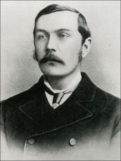 Sir Arthur Conan Doyle was a Scottish physician and writer best known for penning stories about the detective Sherlock Holmes. Is it a coincidence he looks like Jude Law, one of the future Watsons. Sir Arthur, Arthur Conan Doyle, Detective Sherlock Holmes, Jeremy Brett, Book Writer, Book Authors, Writers And Poets, John Smith, People Of Interest