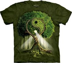 The tree of Yin-Yang symbolizes Life itself. It is the Ultimate Tree of Life. Tree Of Life, Sacred Geometry, Mother Earth, Mother Nature, Feng Shui, Magick, Bonsai, Long Sleeve, Wisdom
