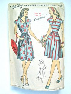 Vintage late 30s or early 40s DuBarry 5880 sewing by Fancywork, $18.00
