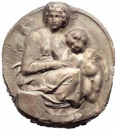 МИКЕЛАНДЖЕЛО. Скульптуры от 1502 Мадонна (Тондо Питти). 1504-05 Мрамор. Музей Национале дель Барджелло, Флоренция
