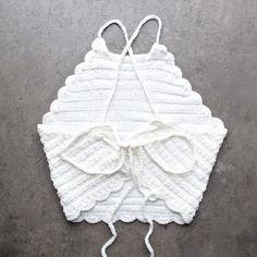 festival shop - crochet halter crop top