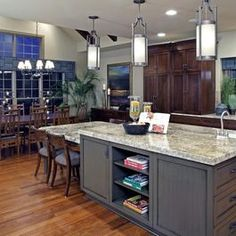 like the lower table attached to the island and i like the counter coloring with gray base